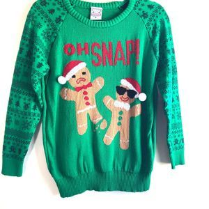 """""""Oh Snap"""" Ugly Christmas sweater Med"""